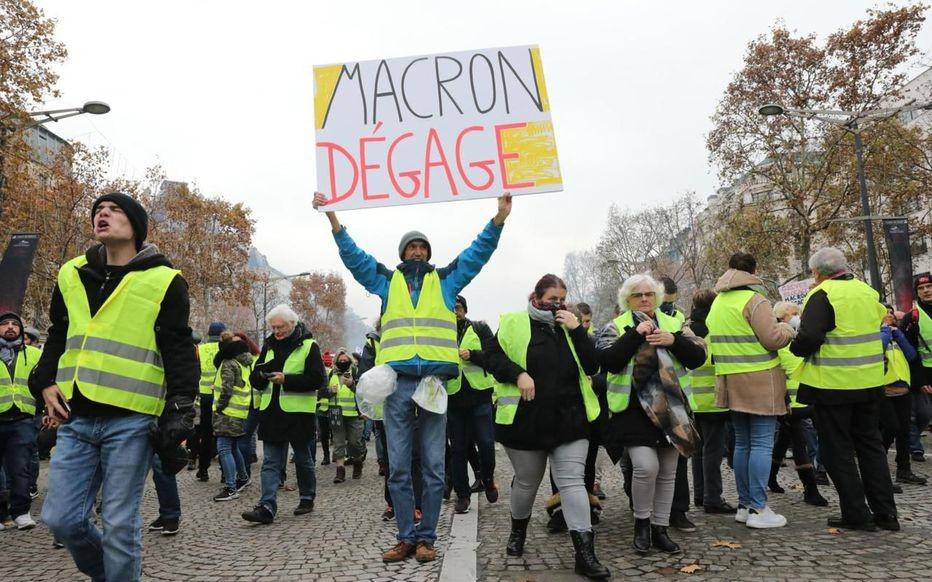 Manifestations contre Macron