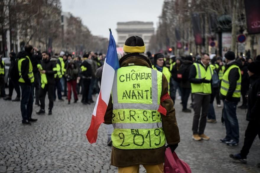 Manifestations de chômeurs contre Macron