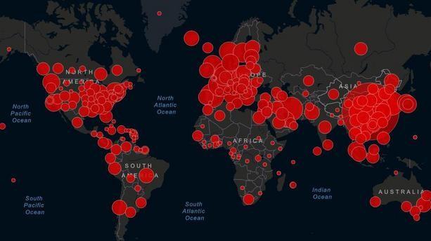 Propagation mondiale du Covid19
