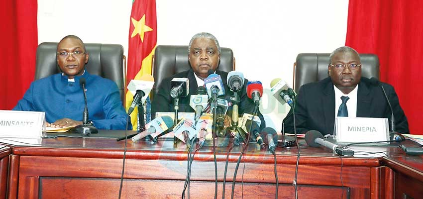 conference de presse MINCOM MINSANTE