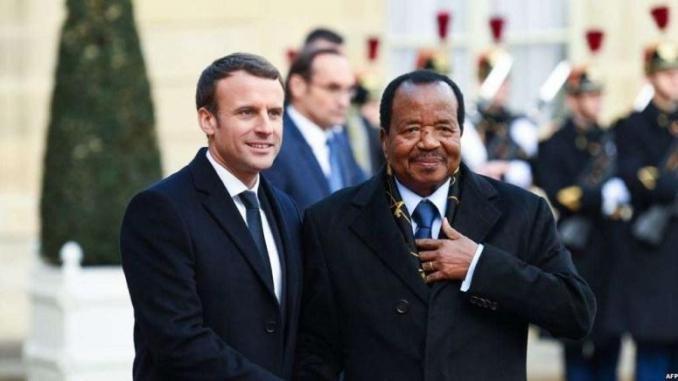 Macron-et-Paul-Biya